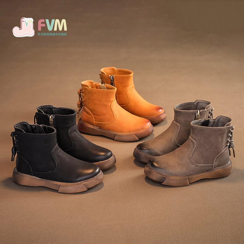 儿童鞋马丁靴女童短靴子英伦风韩版秋冬款二棉鞋公主2017新款百搭