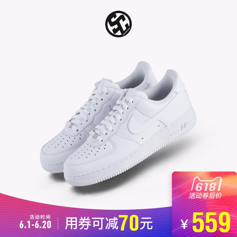 耐克Nike Air Force 1 AF1 全白空军一号男女运动板鞋 315122-111