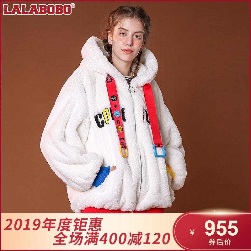 点击查看商品:LALABOBO 2018新款短款毛绒外套 L02C-WWRW22