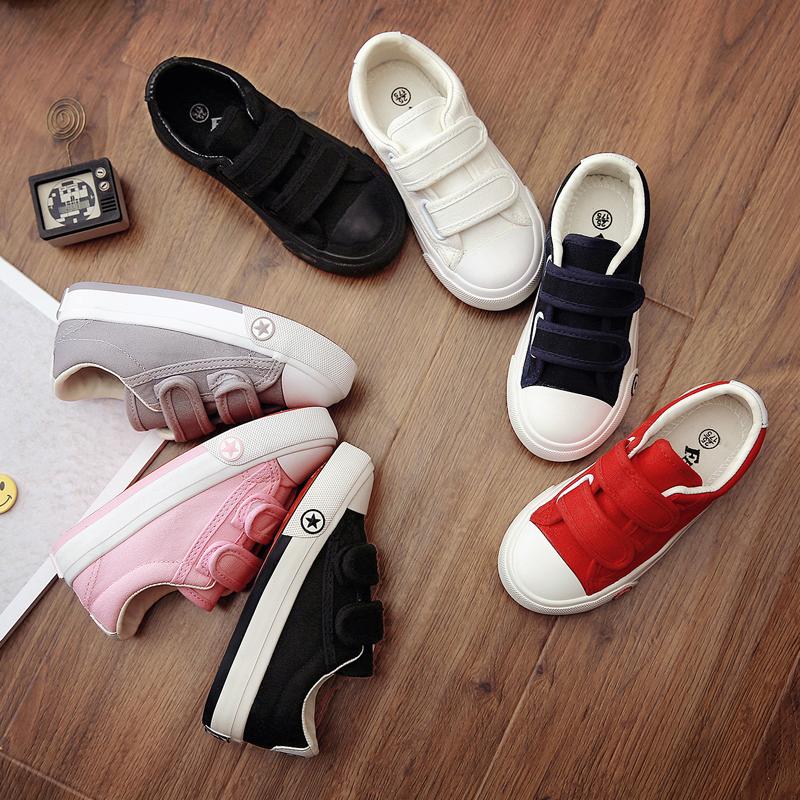 飞耀童鞋儿童帆布鞋2020新款男童布鞋女童板鞋幼儿园小白鞋春秋季