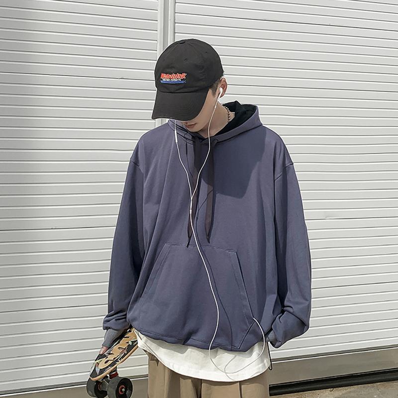 大货足!连帽拼接卫衣休闲外套B402-W007-常规P65控78.加绒70控88