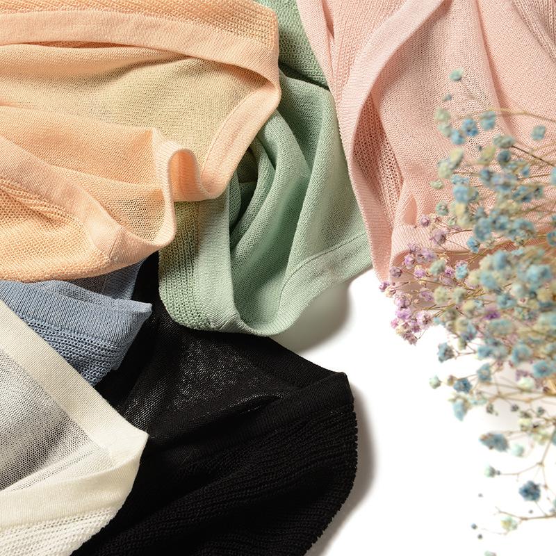 2019新款绿色短款亚麻外套宽松外搭空调冰丝针织衫防晒开衫女薄款