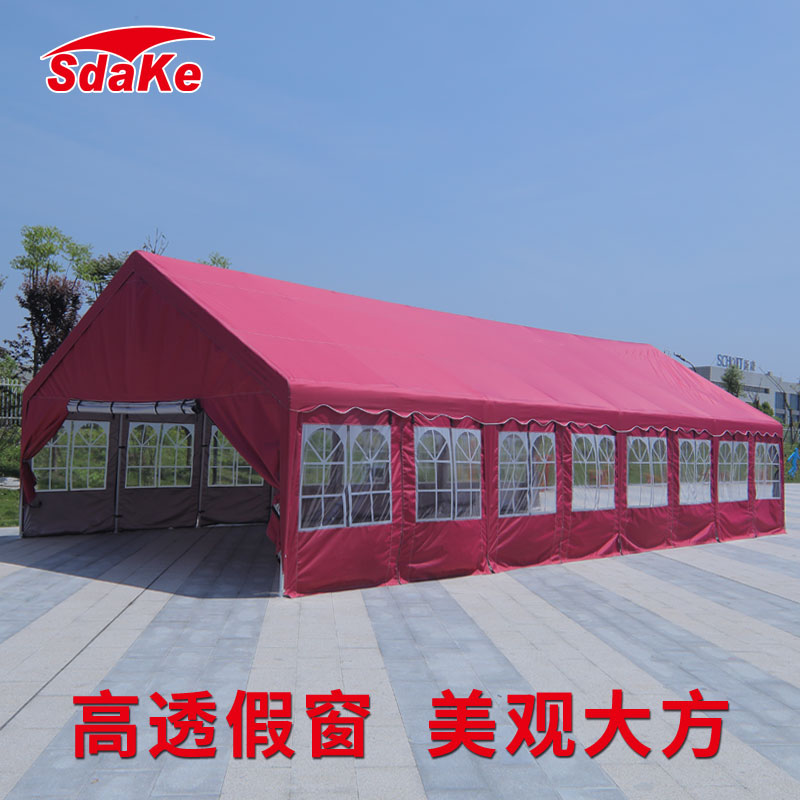 停车棚家用婚庆喜棚酒席帐篷大型户外遮阳棚雨棚防雨防晒移动车库