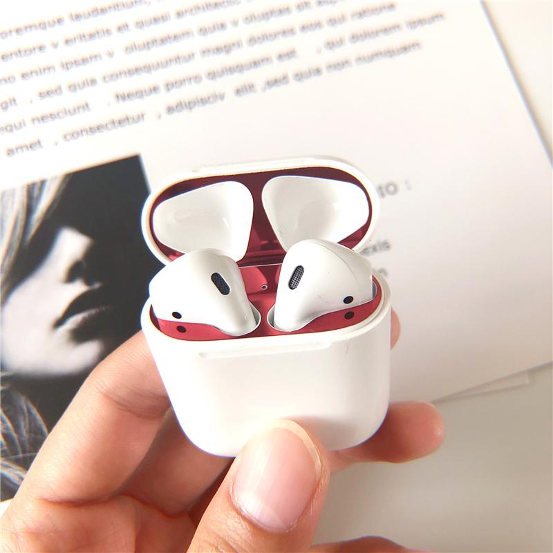 AirPods盖子贴苹果无线蓝牙耳机保护套充电盒预防铁粉贴纸金属膜
