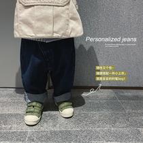 宝宝幼儿园日系牛仔裤允儿妈女童秋季新款休闲裤儿童春秋洋气裤子