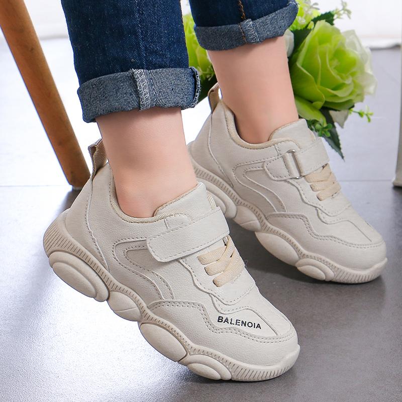 小熊鞋子儿童款老爹鞋网红鞋男童小白鞋2019春秋女童小熊底运动鞋