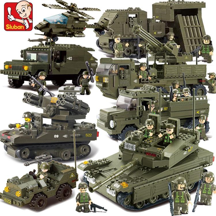 小鲁班兼容legao拼装小颗粒积木二战军车男孩玩具军事系列坦克8岁
