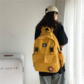 初中生书包女中学生高颜值旅行背包大容量旅游古着感双肩包包洋气