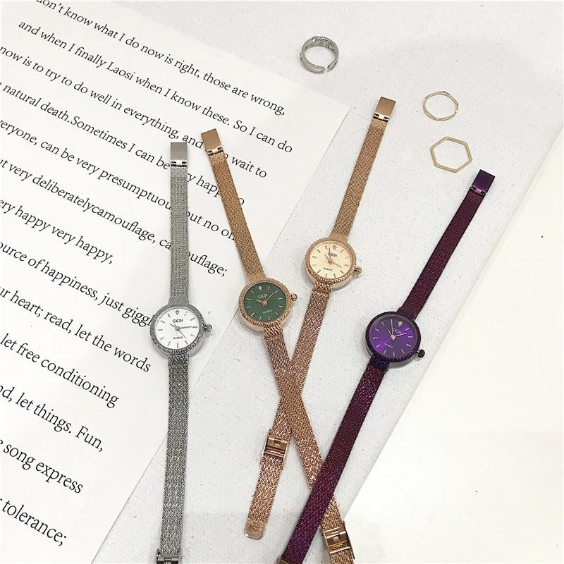 轻奢小众品牌vintage小表盘手表女学生韩版简约潮流ulzzang大气质