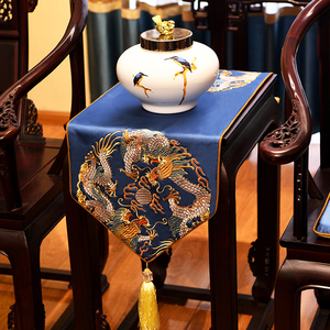 New Chinese style table flag Chinese style Zen coffee table cloth home TV cabinet bedside table dining table cloth tea table flag non-slip