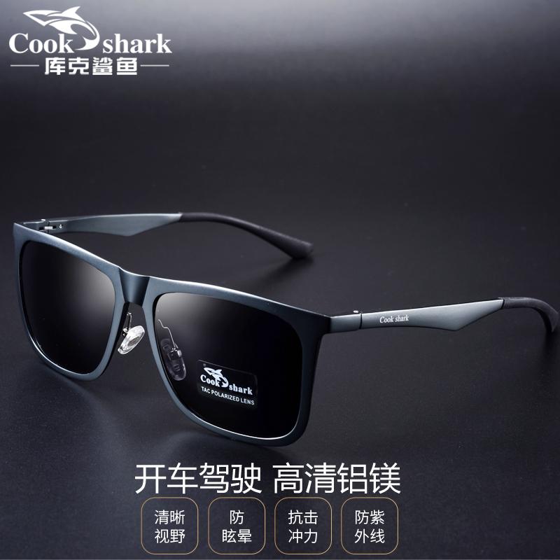 cookshark库克鲨鱼墨镜男女偏光太阳镜男开车驾驶司机镜眼镜男潮