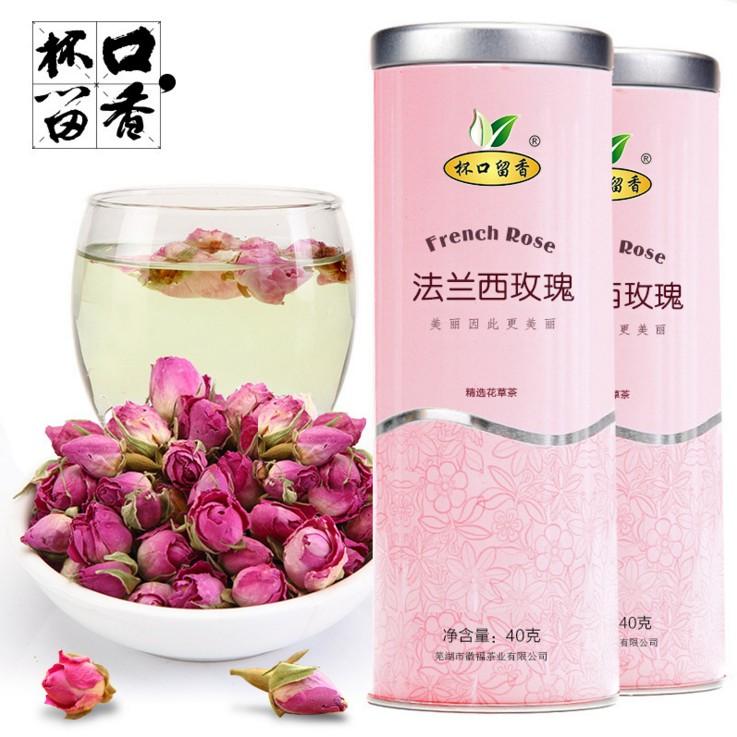 玫瑰花茶 杯口留香法兰西玫瑰 粉玫瑰花茶 花草茶 干玫瑰花蕾包邮