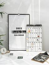 2021简约挂历日历记事年历2022挂墙月历打卡大格计划表备忘录