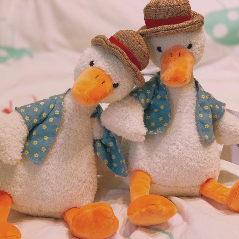 毛绒玩具可爱超丑萌加油鸭子抱枕网红玩偶公仔娃娃搞怪生日礼物女