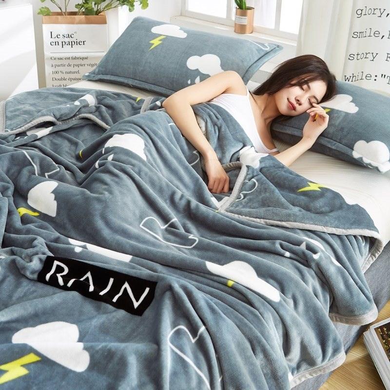 毛毯夏季毯子薄绒铺床床单双人单人夏天盖毯床毯两用线毯绒被男士