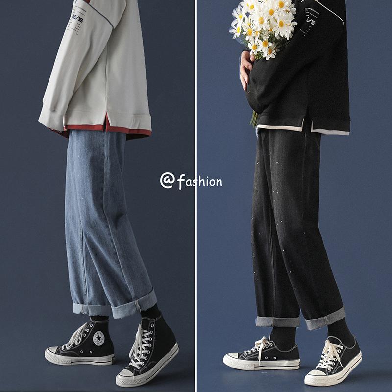 牛仔裤宽松秋冬直筒裤B238-BK302P50