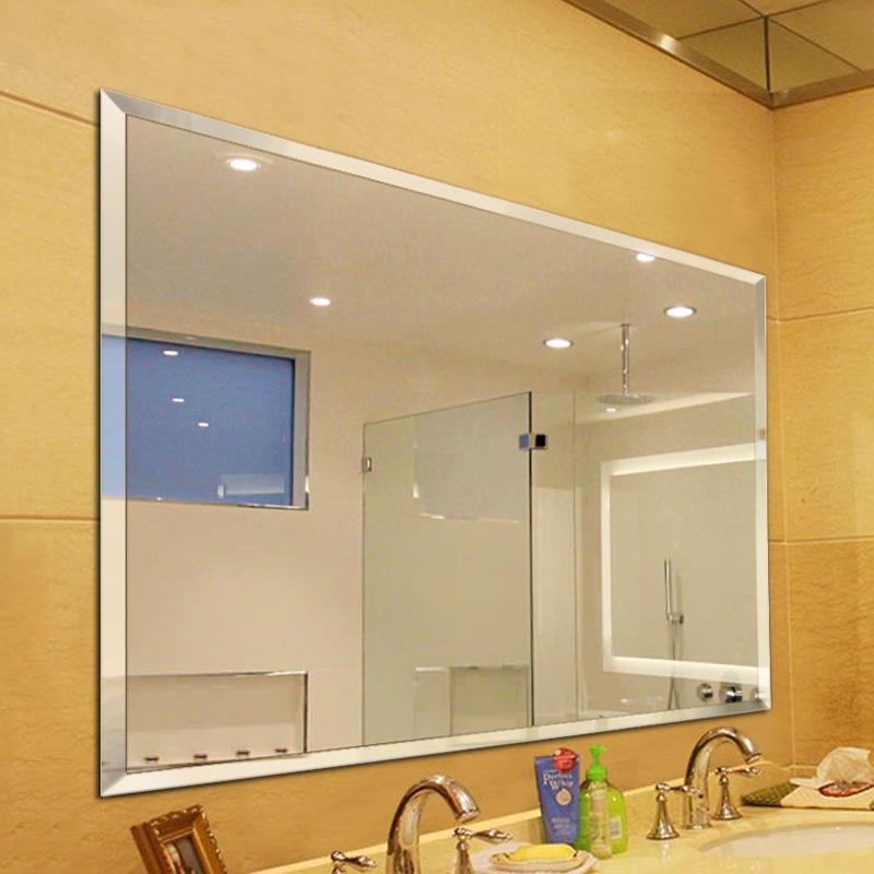浴室镜大尺寸贴墙免打孔卫生间壁挂粘贴洗手间无框简约浴室大镜子