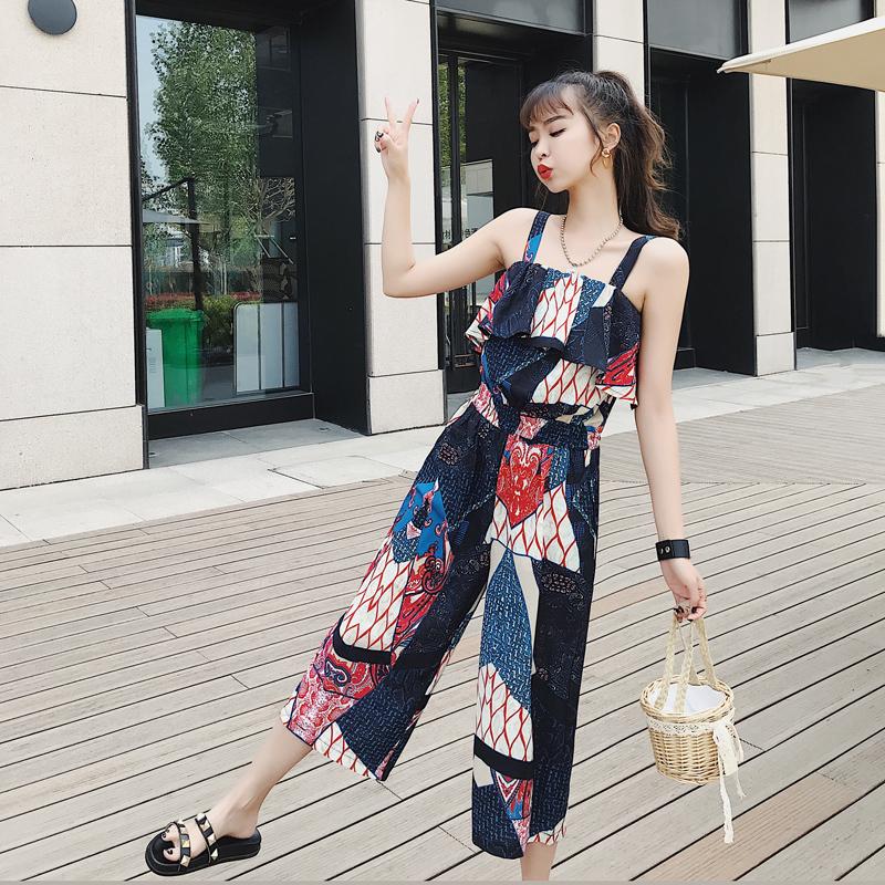 泰国 旅游 衣服 小个子 沙滩 衣裤 连体 海边 度假 套装