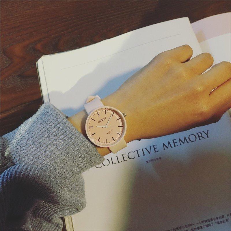 简约手表卡通新款男孩潮流胶带休闲原宿小学生韩版学生腕表果冻表
