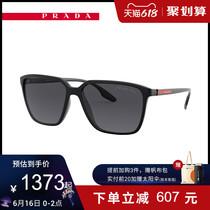 新款PRADA LINEA ROSSA/普拉达 枕形太阳眼镜男款0PS 06VSF