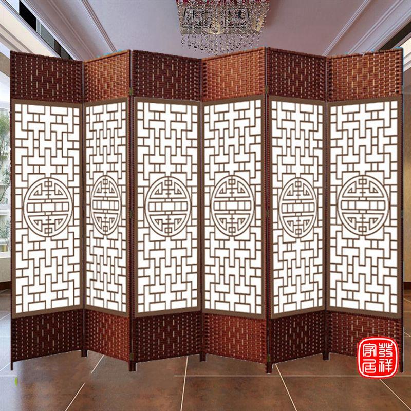 屏风隔断简约现代折屏实木折叠移动推拉双面客厅简易门帘装饰隔断