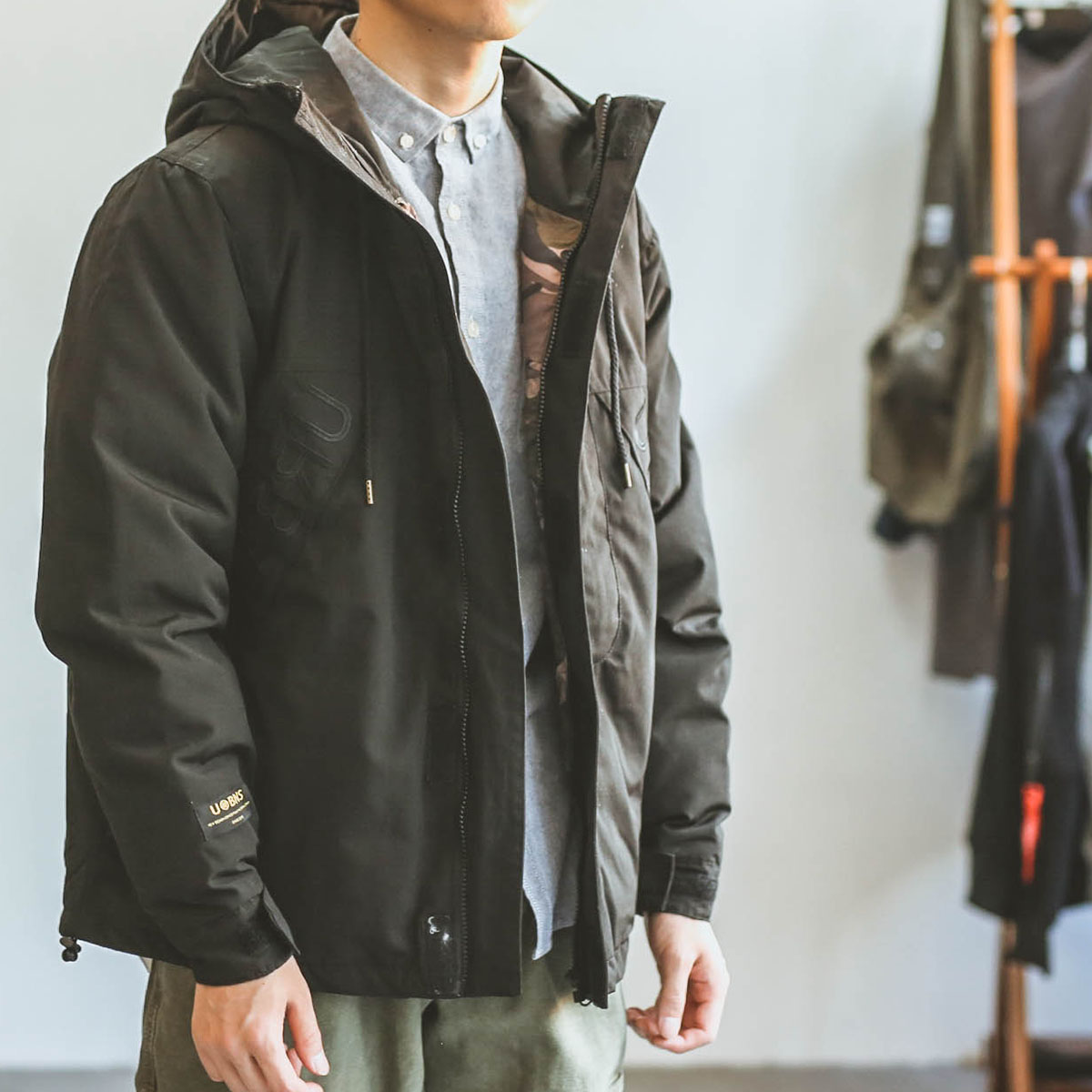 Hey, Ma qizuo, Japanese department, winter thickened pilot jacket, overalls, cotton padded jackets, cotton padded clothes, fashion brand couple, cotton padded man
