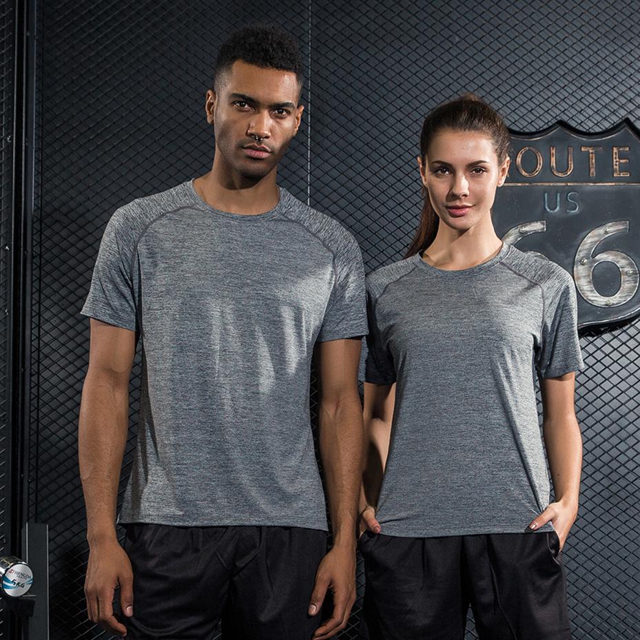 短袖运动T恤男女情侣速干上衣透气健身服半袖衫夏季薄款宽松跑步