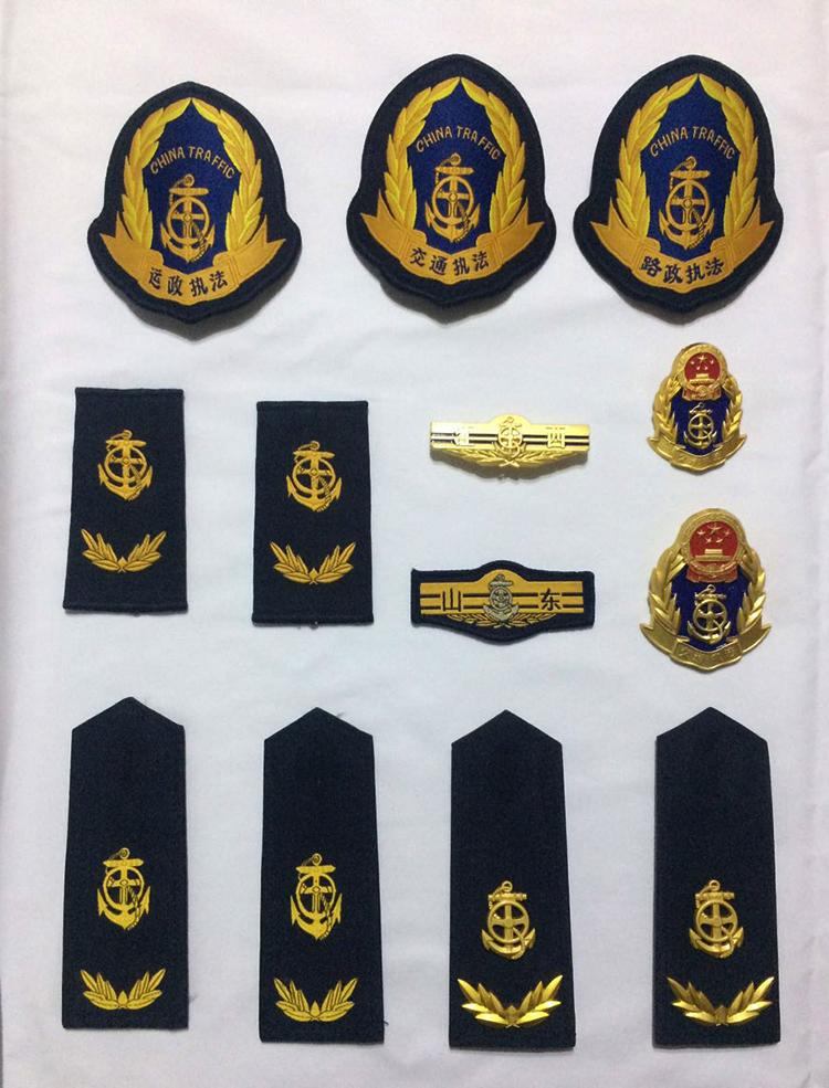 新交通执法臂章路运政肩章帽徽金属胸牌胸号领花领带服装配件标志