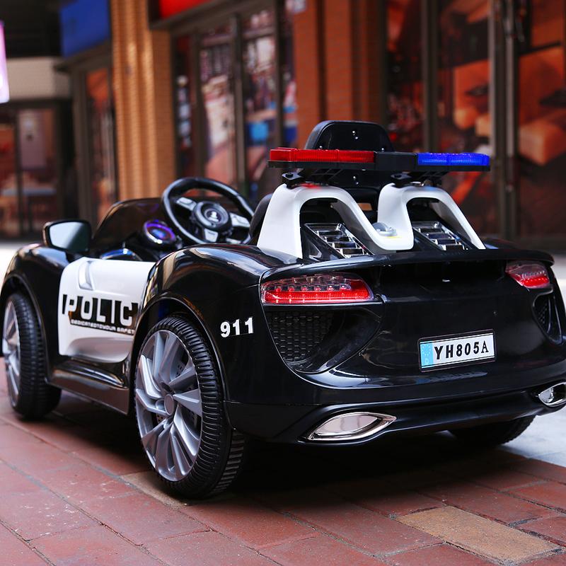 儿童电动车四轮带遥控越野童车摇摆小孩汽车宝宝玩具车可坐人警车