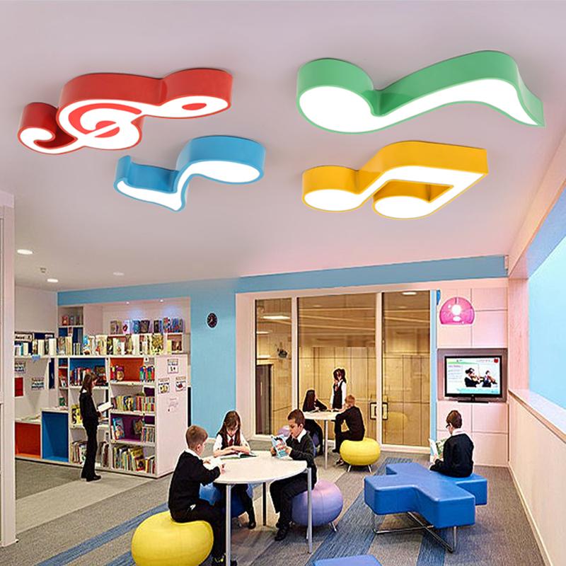 幼儿园音乐音符灯教室灯LED儿童吸顶灯舞蹈室灯创意马卡龙造型灯-卡启朵企业店