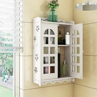 卫生间置物架柜防水洗澡间壁挂收纳粘贴洗漱品浴室墙上厕所免打孔