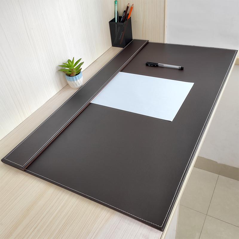 皮质办公写字桌垫超大号皮革大班垫商务案台书写板鼠标垫硬面加厚