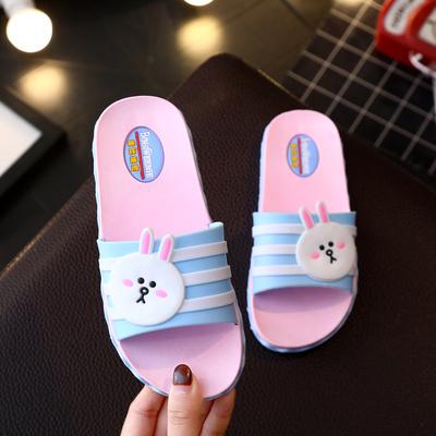 女童拖鞋夏卡通可爱室内小公主防滑软底韩版亲子宝宝儿童一字拖鞋 拍下9.9元包邮