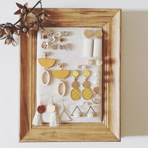 Earring display rack home earring storage board photo frame wall earrings shelf necklace jewelry rack jewelry rack props