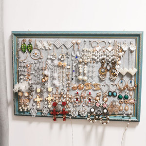 Earring storage rack necklace display rack photo frame wall jewelry shelf home earring display board earring jewelry rack