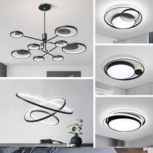 Nordic lamp modern simple atmosphere family living room chandelier creative personality package combination light luxury living room lamp