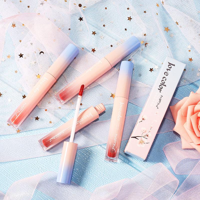 韩国樱花粉限量版唇釉网红同款唇釉学生可爱丝绒雾面保湿防水口红