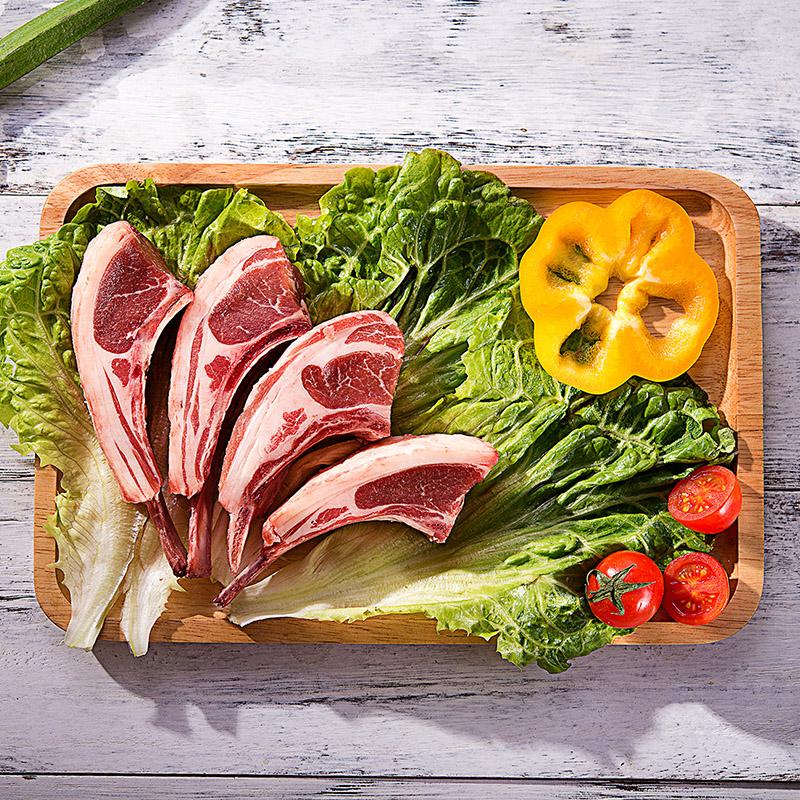 新西兰法切新鲜法式羊排冷冻去盖七盖七骨包邮300g×2份羊肉羊排
