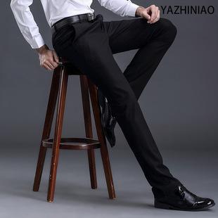 春秋款男士正装西裤男装新款直筒修身休闲西服潮男式职业商务西裤