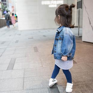 蓝小爸 女童牛仔外套新款 韩版
