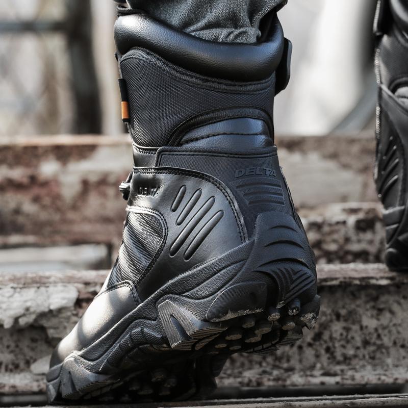 户外特种兵军靴男作战靴秋冬正品高帮三角洲沙漠战术鞋减震陆战靴