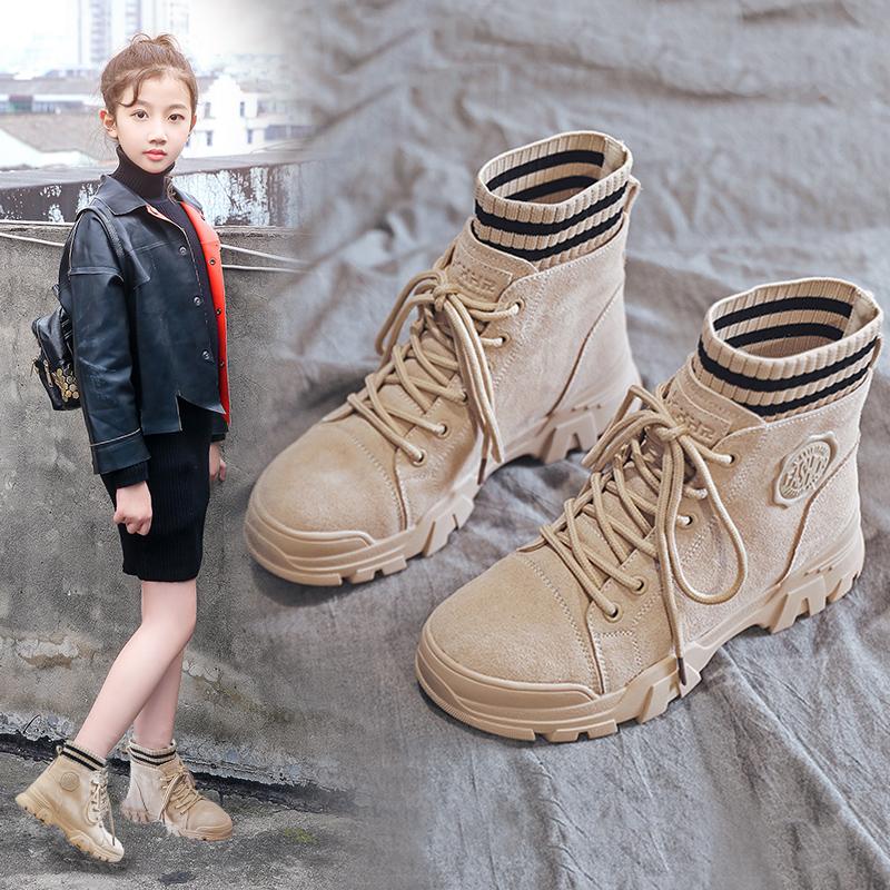 女童马丁靴 英伦风小女孩短靴秋冬潮靴子2019秋季新款女童靴子冬