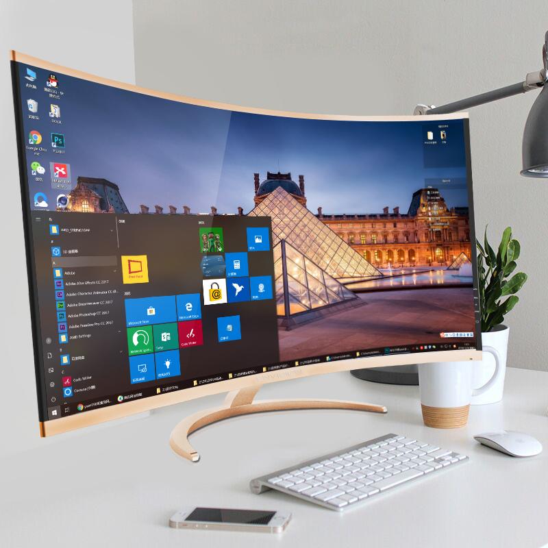 冠捷易美逊2K曲面显示器32英寸高清曲屏P323WQC液晶电脑屏幕PS4电竞游戏吃鸡27台式网吧34笔记本外接大屏4K