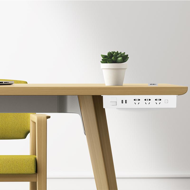 吊挂式插座 带USB充电排插 隐藏式插排 五孔插座 桌面插座 接线板