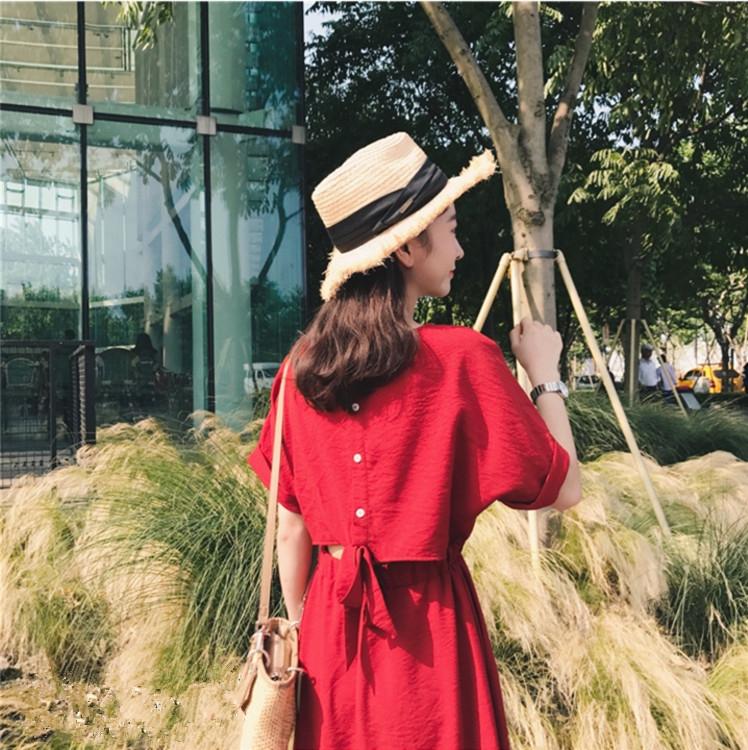 云奈2019沙滩裙女三亚旅游马尔代夫海边度假长裙泰国红色连衣裙优惠券