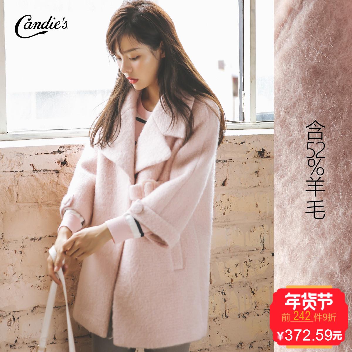 毛呢大衣女中长款韩国2017秋冬新款韩版学生小个子加厚呢子外套