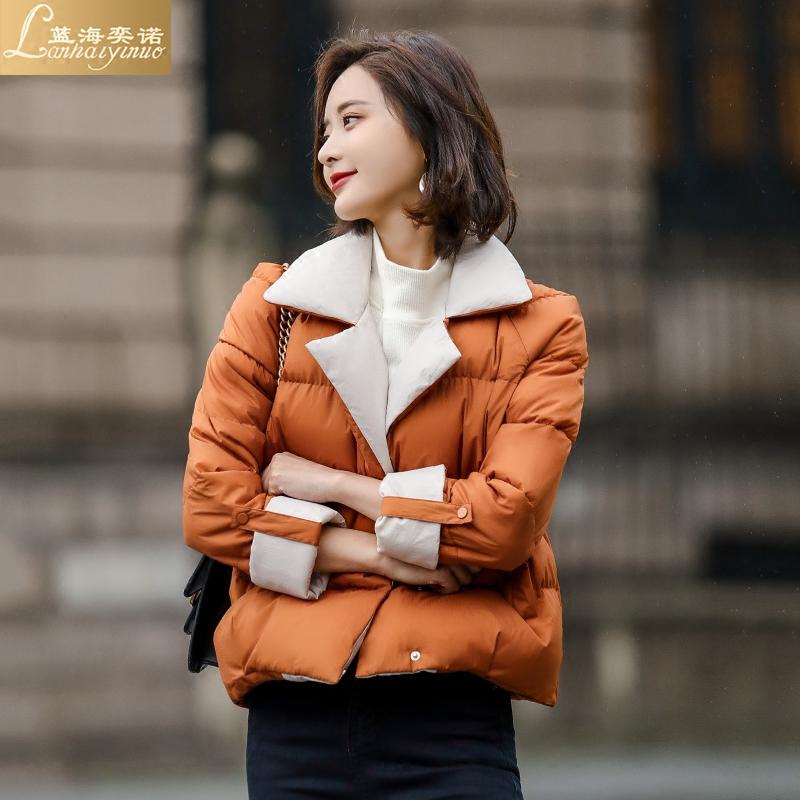 蓝海奕诺冬季新款女装韩版加厚棉衣外套棉服学生面包服短款小棉袄