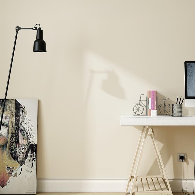 浅黄色米黄色现代简约素色纯色pvc防水防潮壁纸北欧风格墙纸卧室
