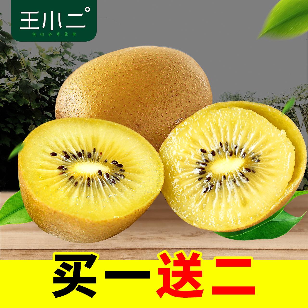王小二 黄心猕猴桃 水果新鲜包邮当季特产奇异果 现摘现发弥猴桃