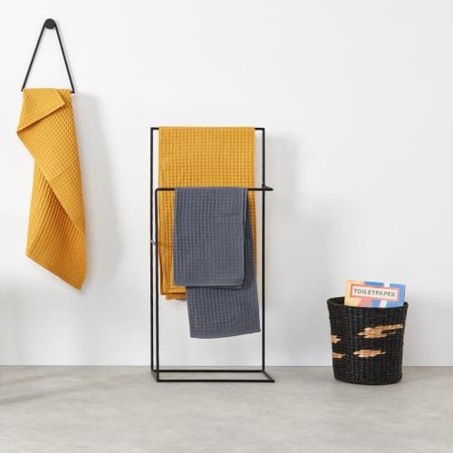 北欧免打孔落地浴室毛巾架收纳置物架卫生间浴巾架抹布挂架挂衣架